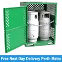Picture of Gas Cylinder Storage cage for 4 x Type T Forklift Cylinders Melbourne