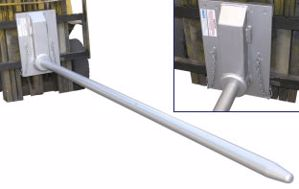 Picture of Carriage Mounted Roll Prong 80mm Diameter 2800mm Long (RPC-QR3)
