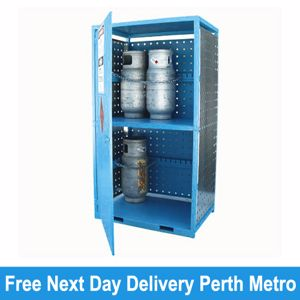 Picture of Gas Cylinder Storage cage for 12 x Type T Forklift Cylinders Melbourne
