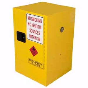 Picture of 30 Litre Flammable Liquid Storage Cabinet 1 Doors and 1 Shelf