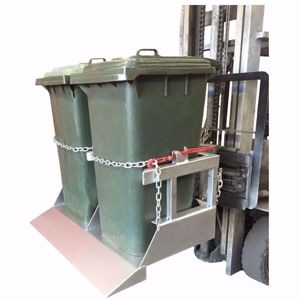 Picture of Forklift Wheelie Bin Tipper x 2 bins
