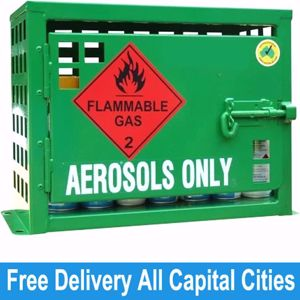 Picture of Aerosol Storage for 18 Spray Cans Melbourne
